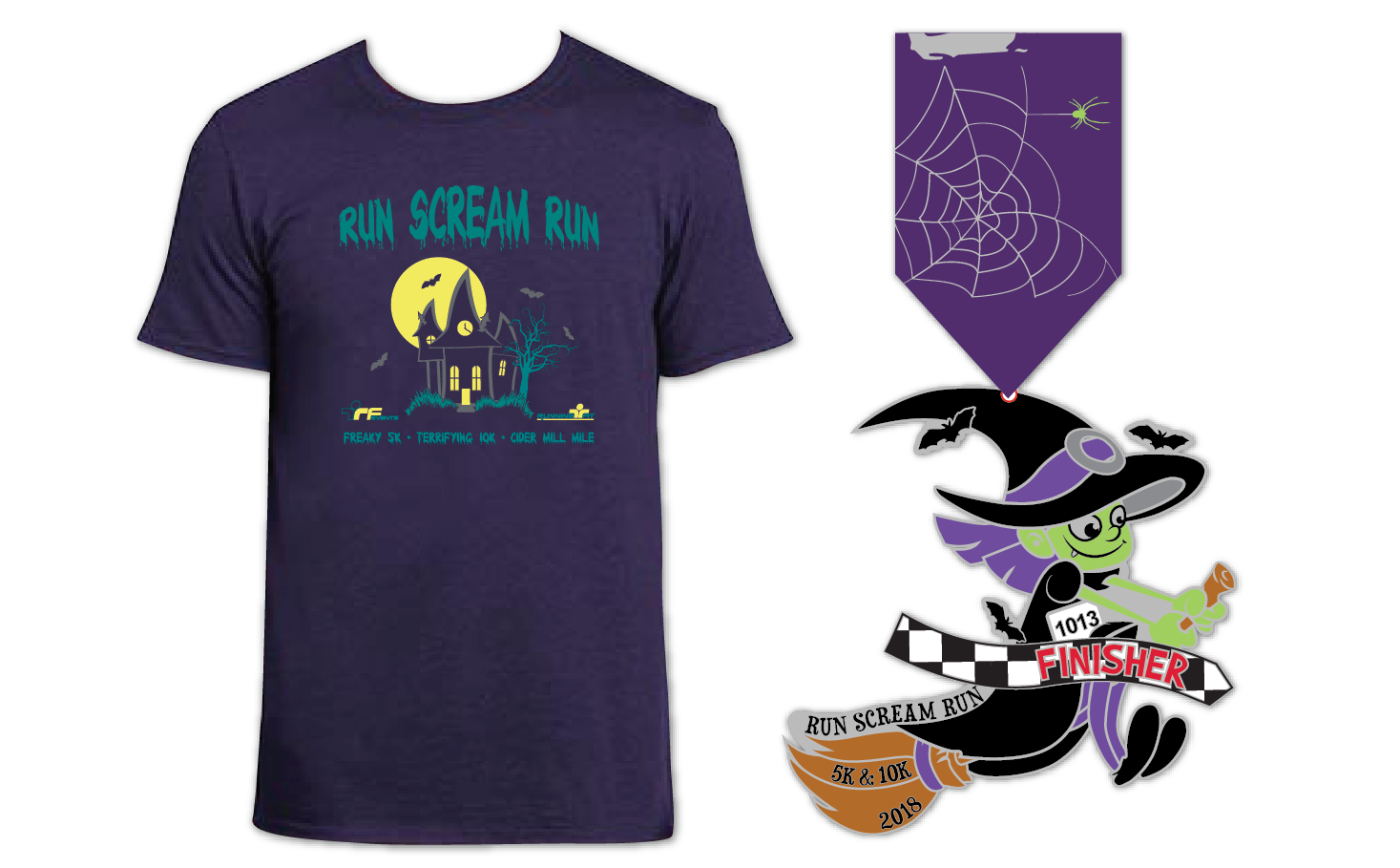 2018 RunScream shirtmedal forweb transparent 02